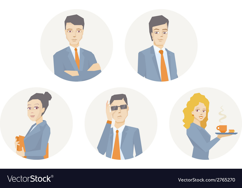 A portrait of a business team of young bu vector | Price: 1 Credit (USD $1)