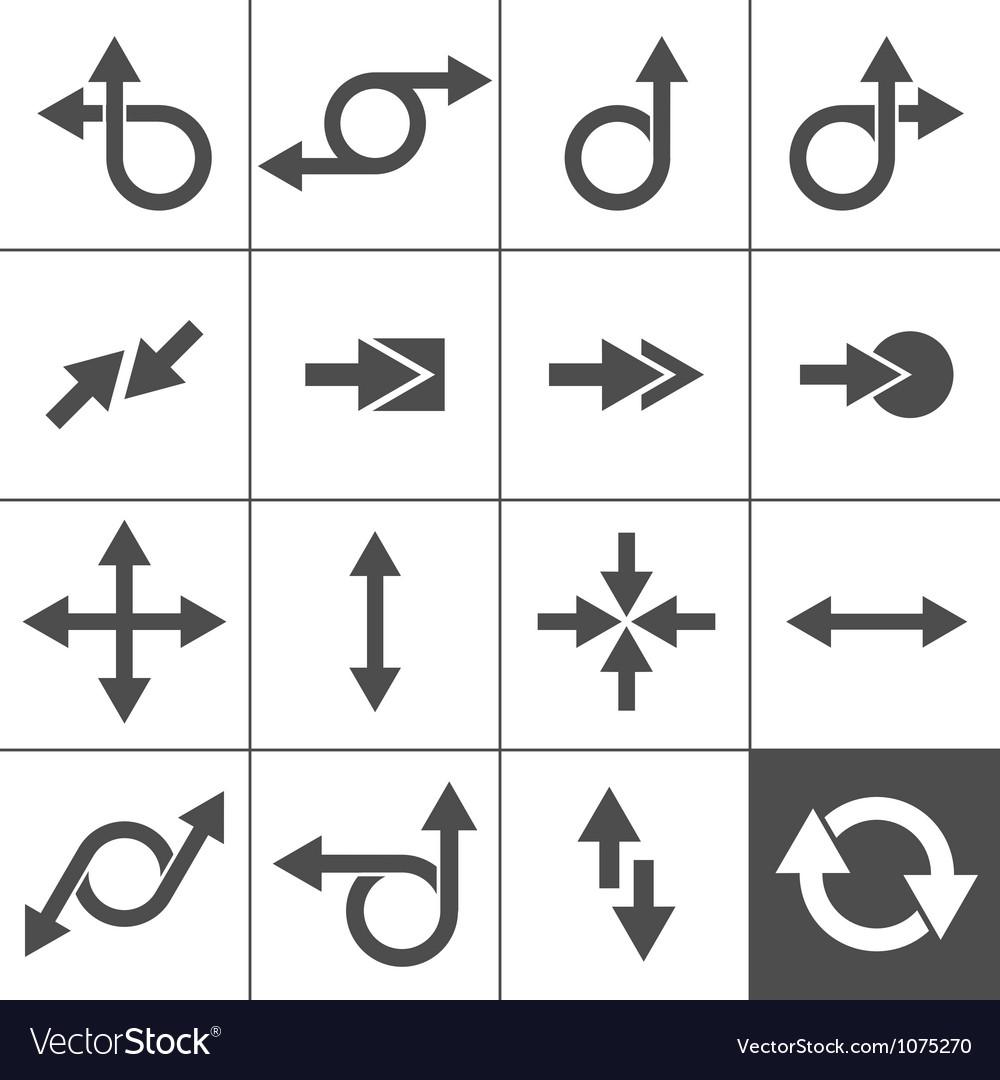 Arrow sign set vector | Price: 1 Credit (USD $1)