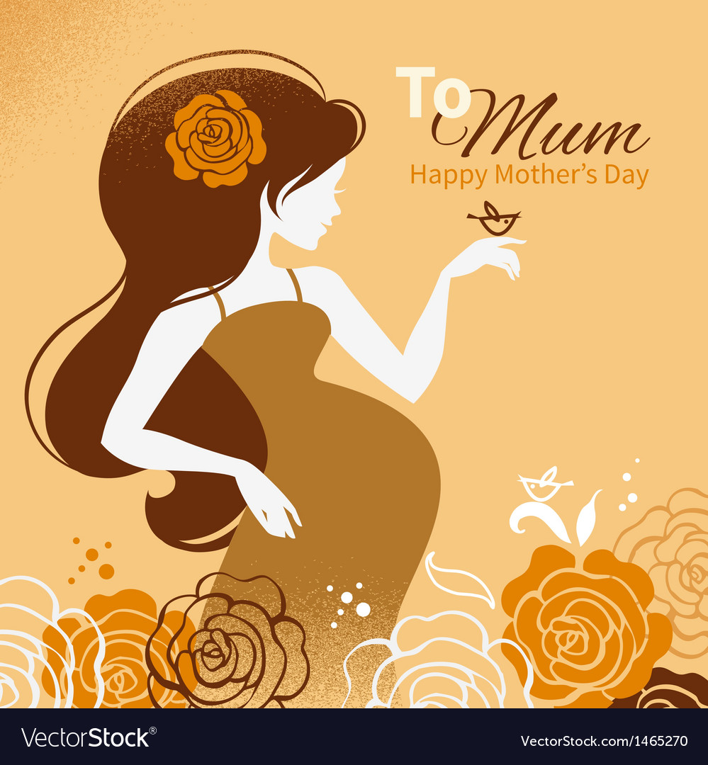 Beautiful pregnant woman vector | Price: 1 Credit (USD $1)