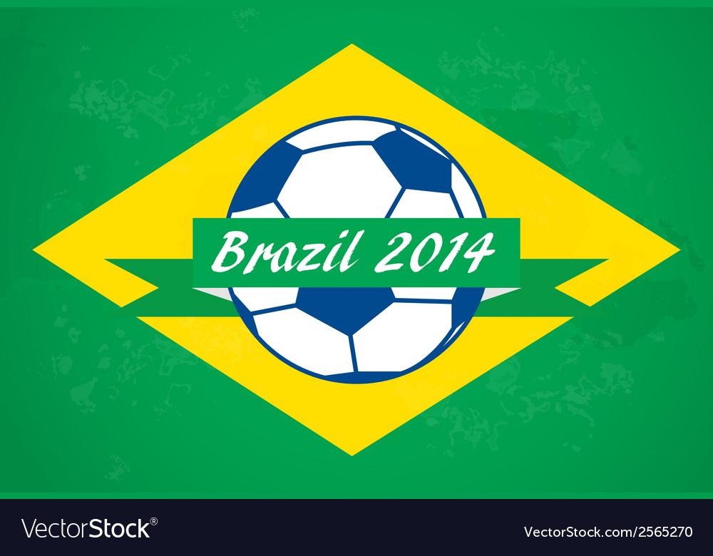 Brazilian football background vector | Price: 1 Credit (USD $1)
