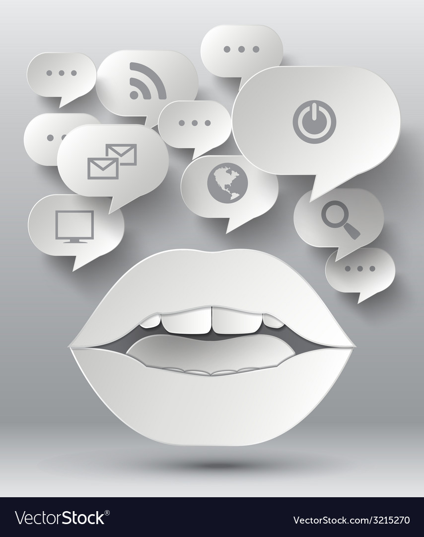 Bubble speech and lip vector | Price: 1 Credit (USD $1)