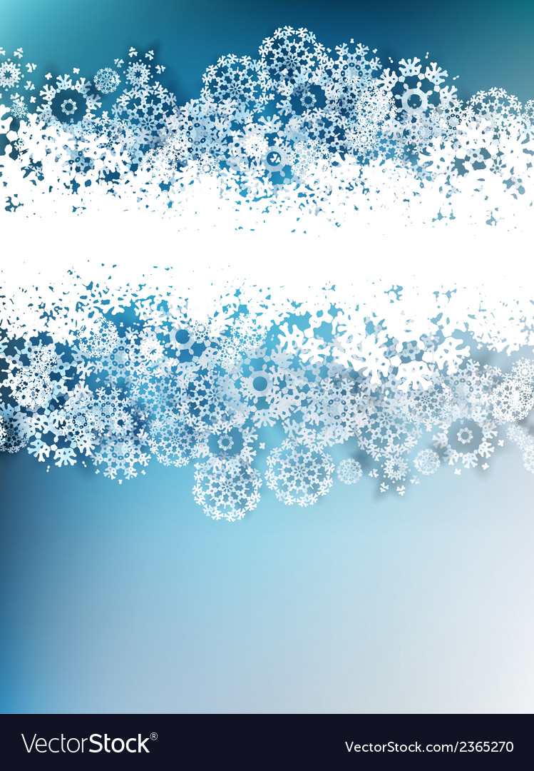 Christmas snowflakes background eps 10 vector | Price: 1 Credit (USD $1)