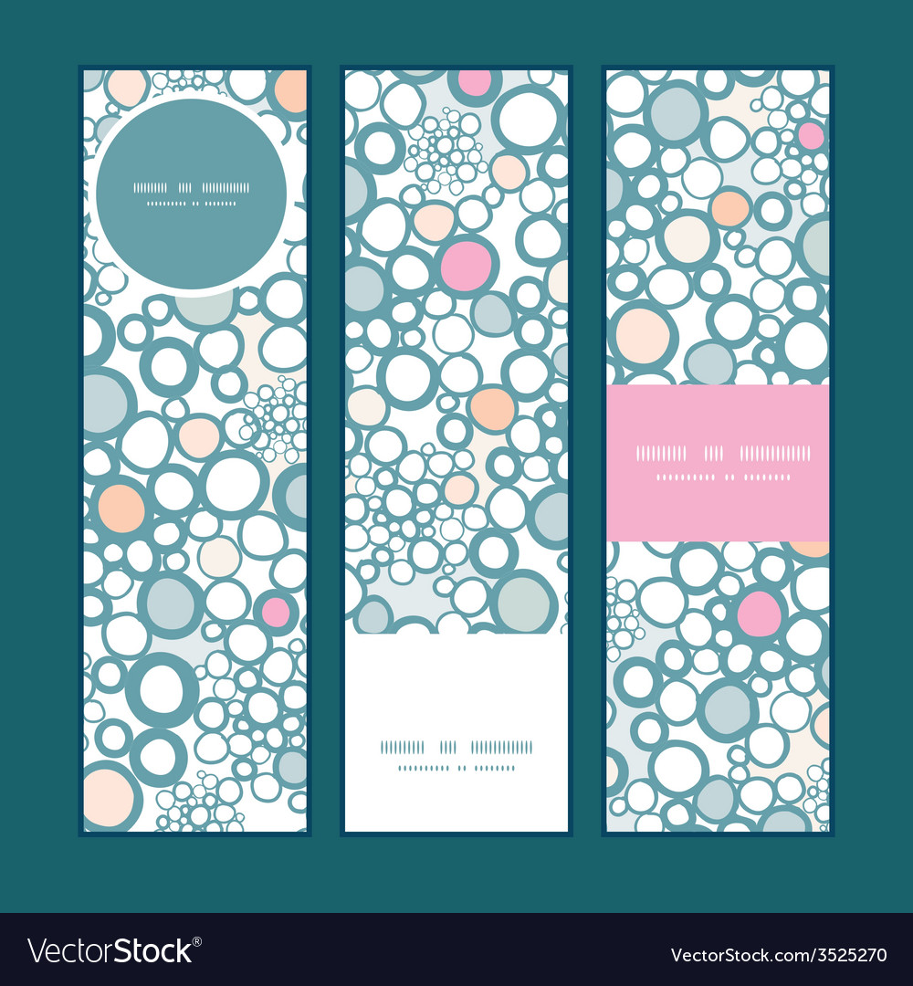 Colorful bubbles vertical banners set pattern vector | Price: 1 Credit (USD $1)