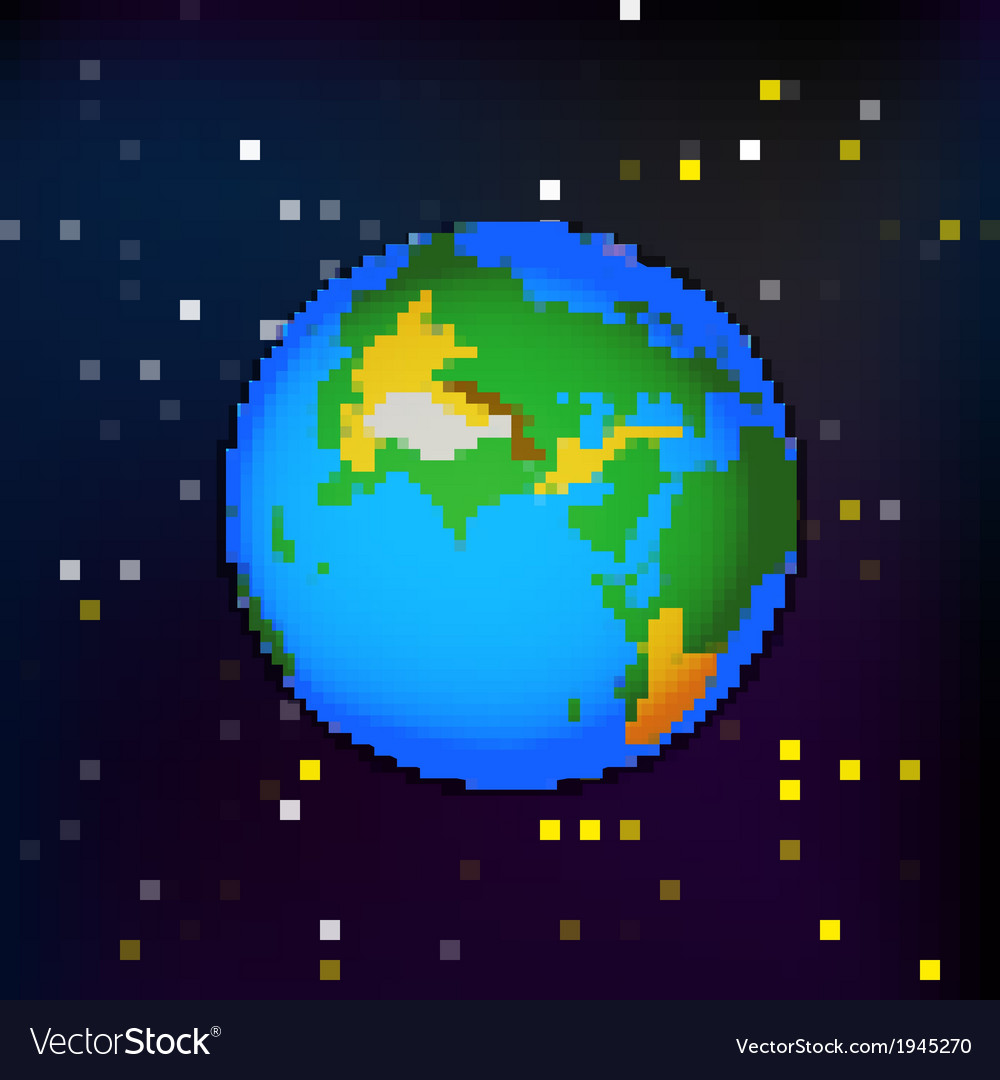 Earth in space vector | Price: 1 Credit (USD $1)