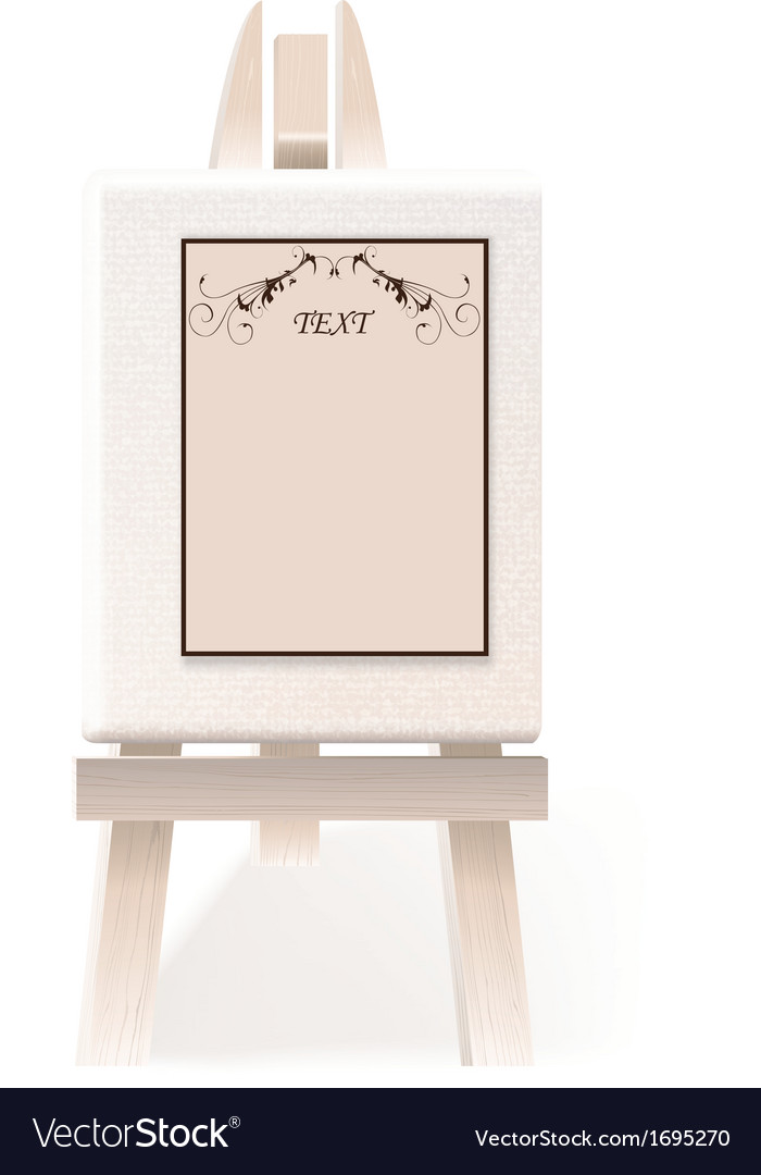 Easel paper vector | Price: 1 Credit (USD $1)