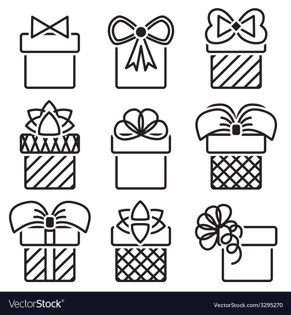 Gift box vector | Price: 1 Credit (USD $1)