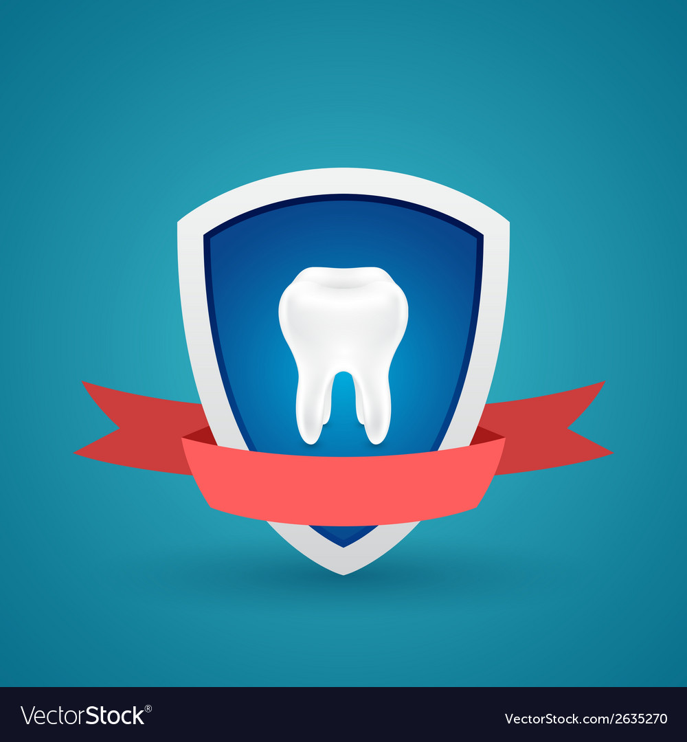 Icon protected human teeth vector | Price: 1 Credit (USD $1)