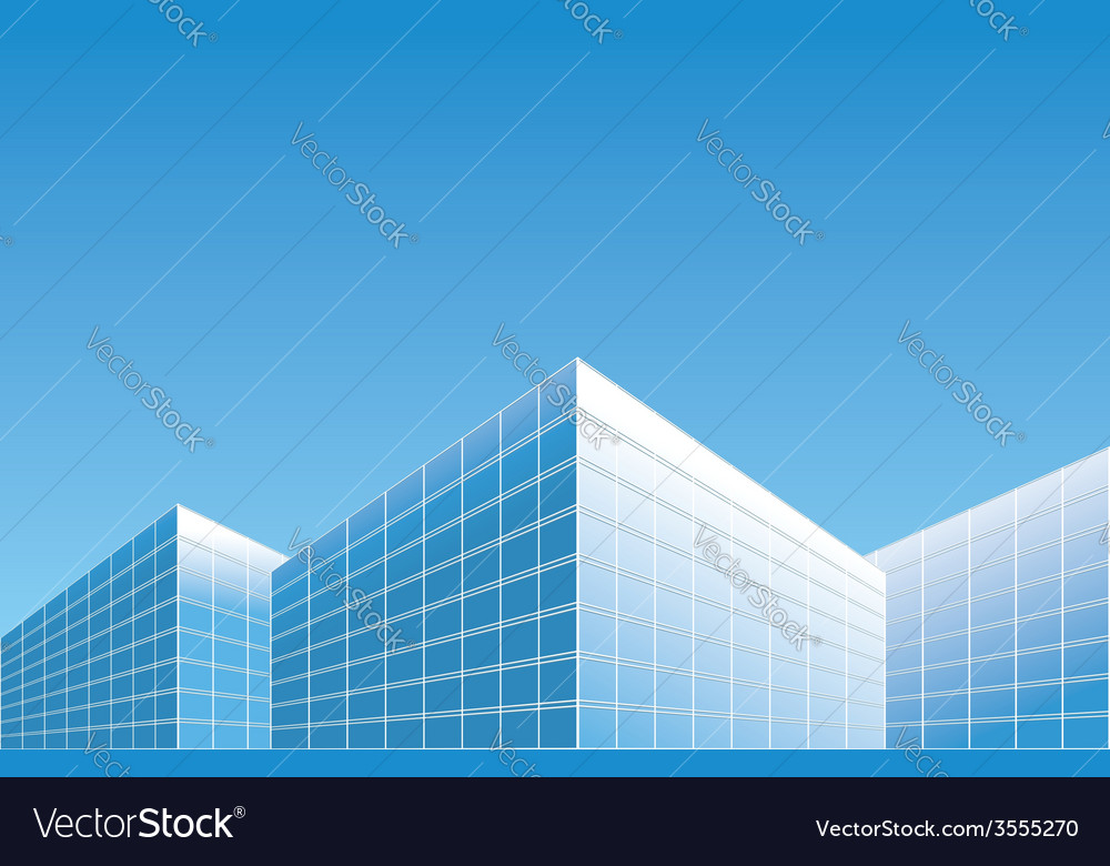 Light blue buildings on skyline - background vector | Price: 1 Credit (USD $1)
