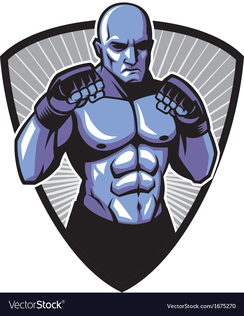 Mma fighter pose vector | Price: 3 Credit (USD $3)