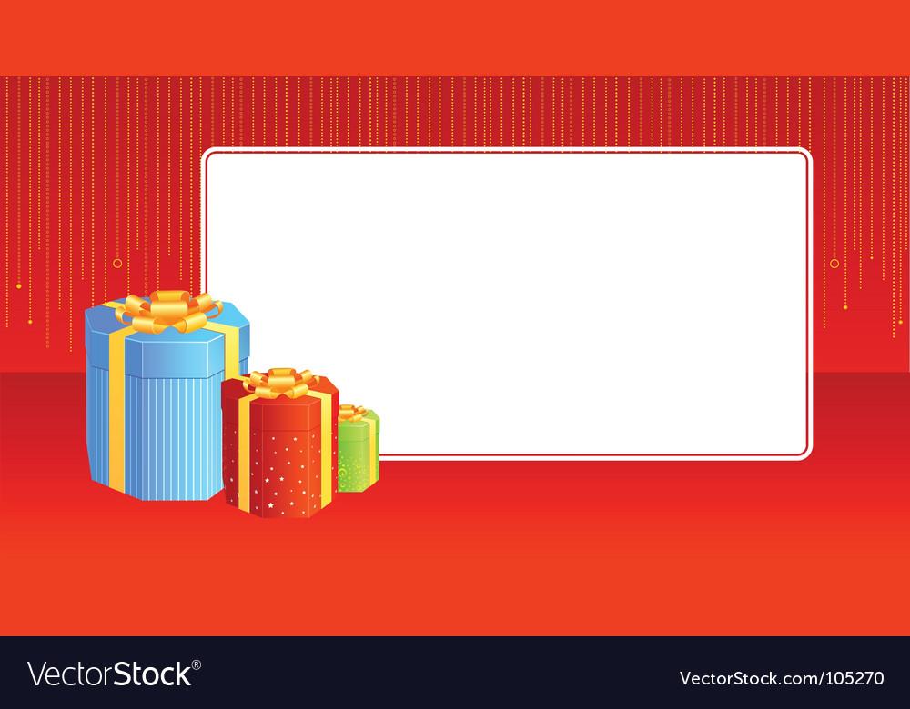 Present vignette vector | Price: 1 Credit (USD $1)