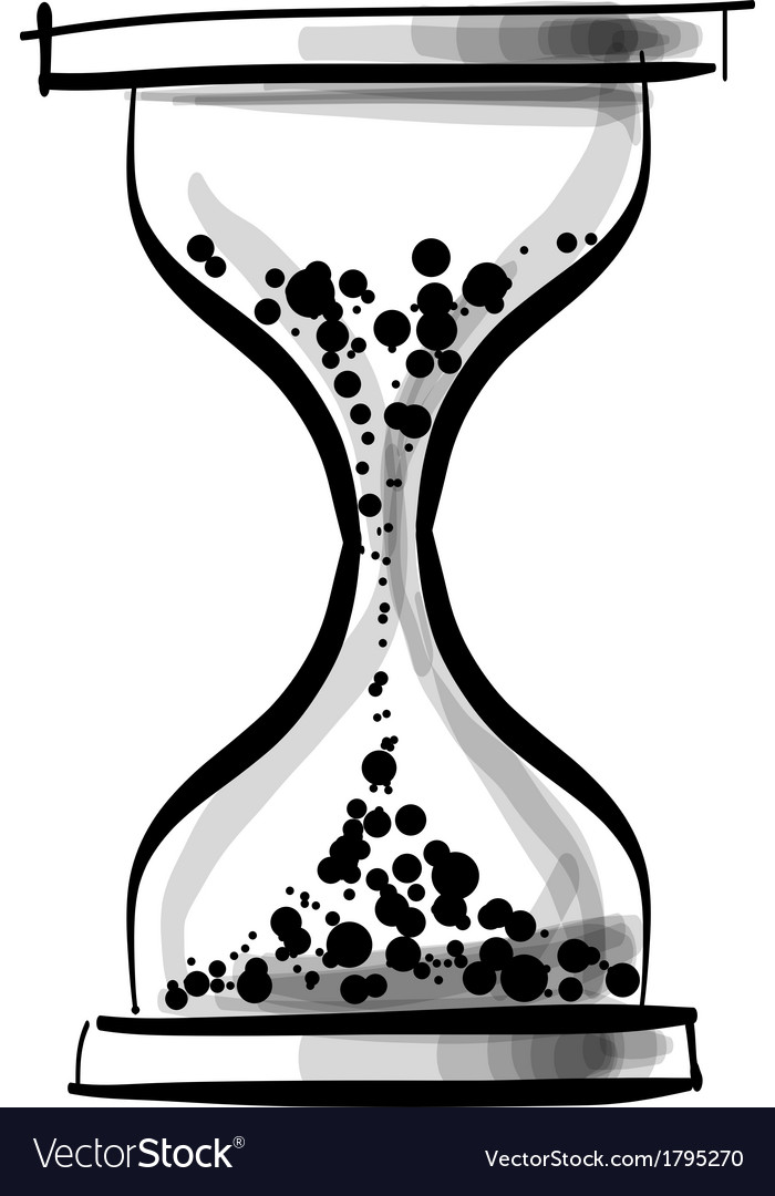 Sand glass clock vector | Price: 1 Credit (USD $1)