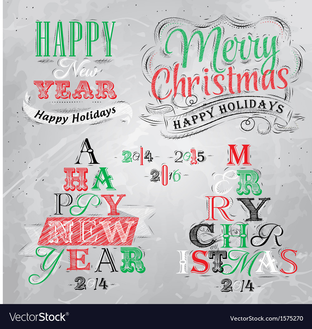Set merry christmas happy coal vector | Price: 1 Credit (USD $1)