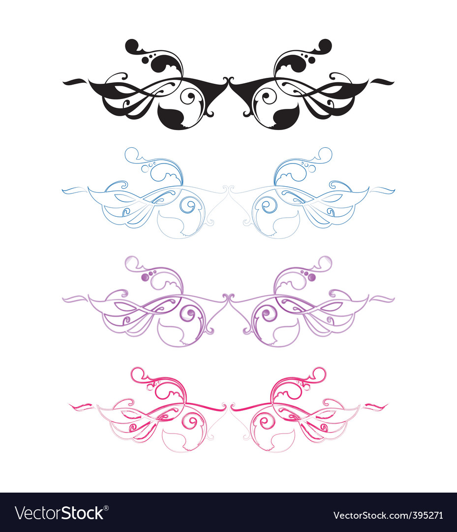 Art nouveau ornament set vector | Price: 1 Credit (USD $1)
