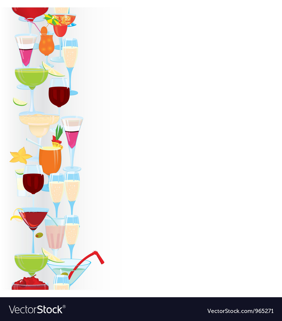 Cocktail borders vector | Price: 1 Credit (USD $1)