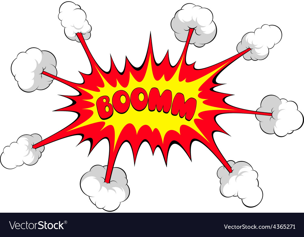 Comic explosion boom vector | Price: 1 Credit (USD $1)