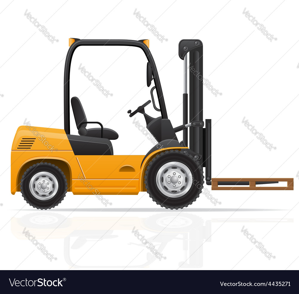 Forklift truck 03 vector   Price: 1 Credit (USD $1)