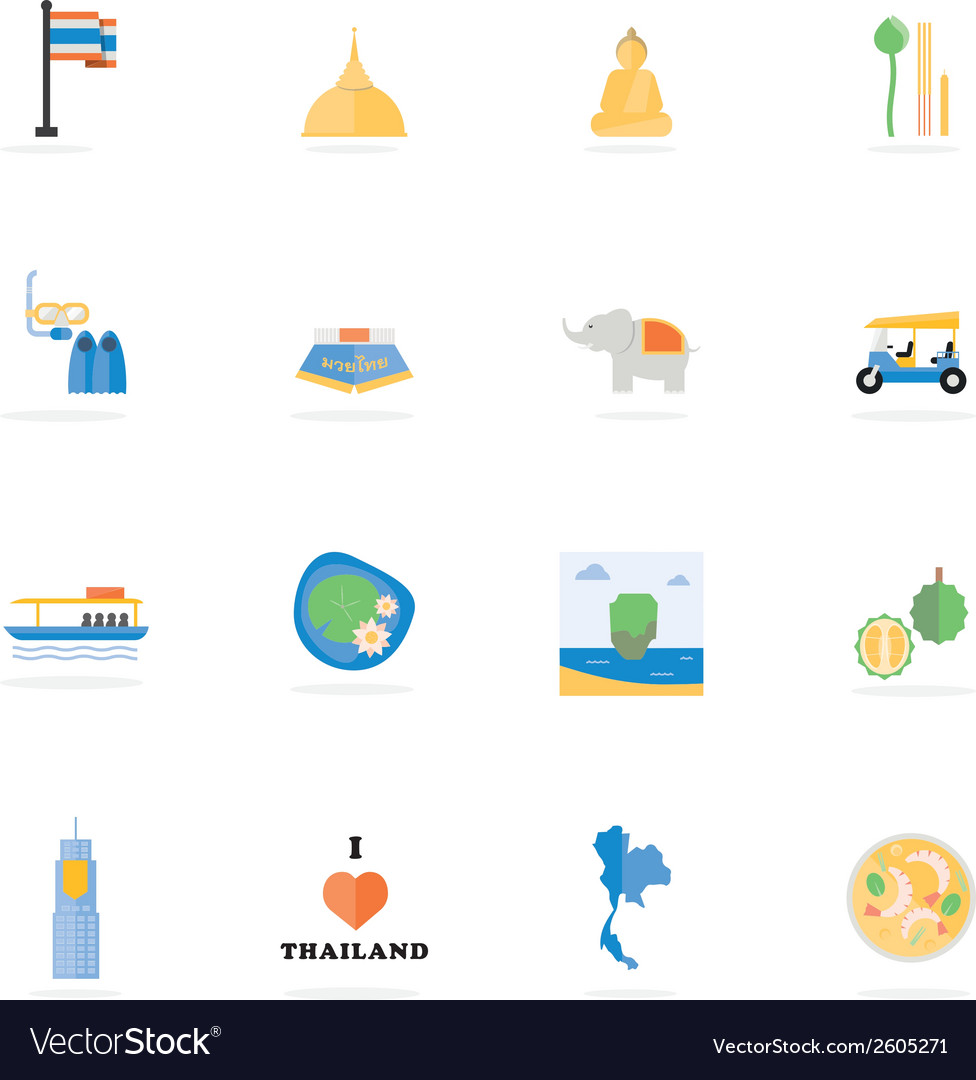 Icon thailand vector | Price: 1 Credit (USD $1)