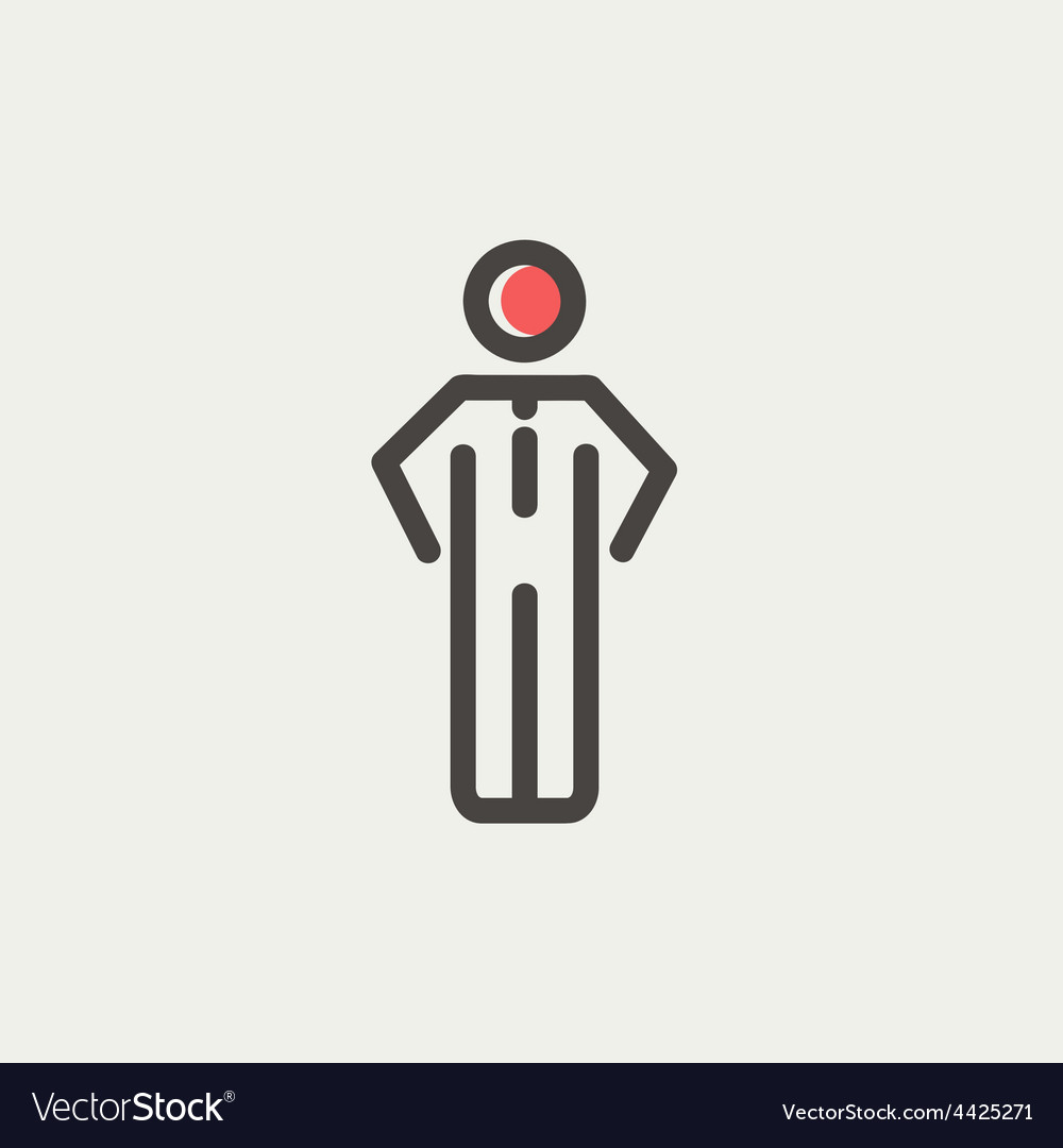 Man standing thin line icon vector | Price: 1 Credit (USD $1)