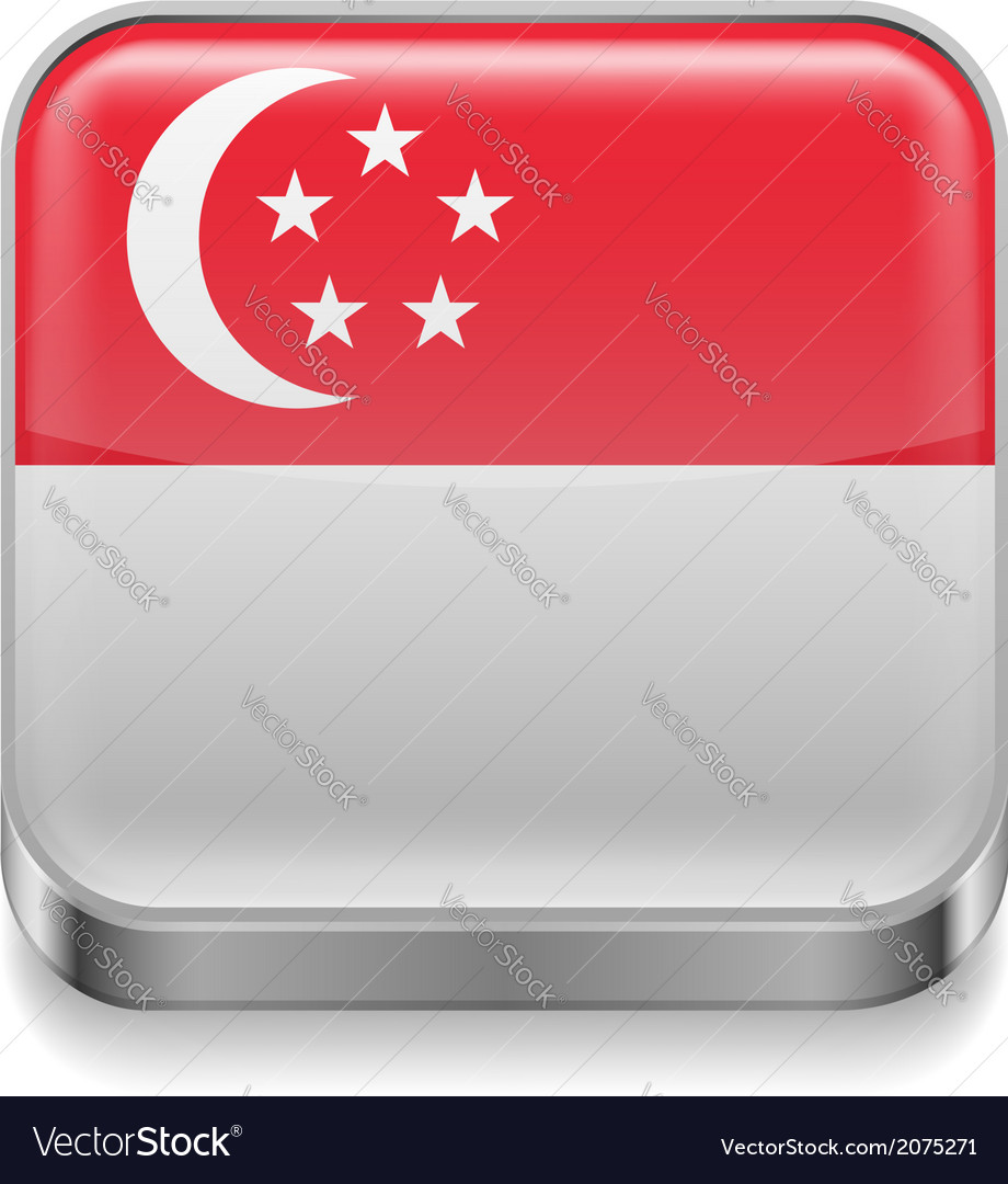Metal icon of singapore vector | Price: 1 Credit (USD $1)