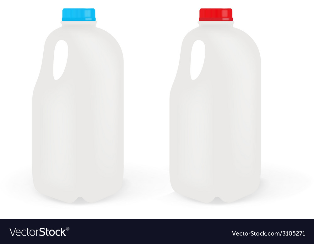 Milk bottles vector | Price: 1 Credit (USD $1)