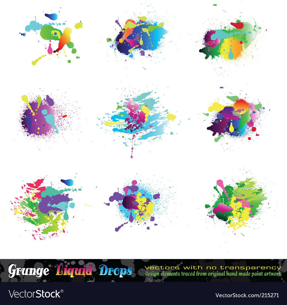 Splash grunge design elements vector | Price: 3 Credit (USD $3)