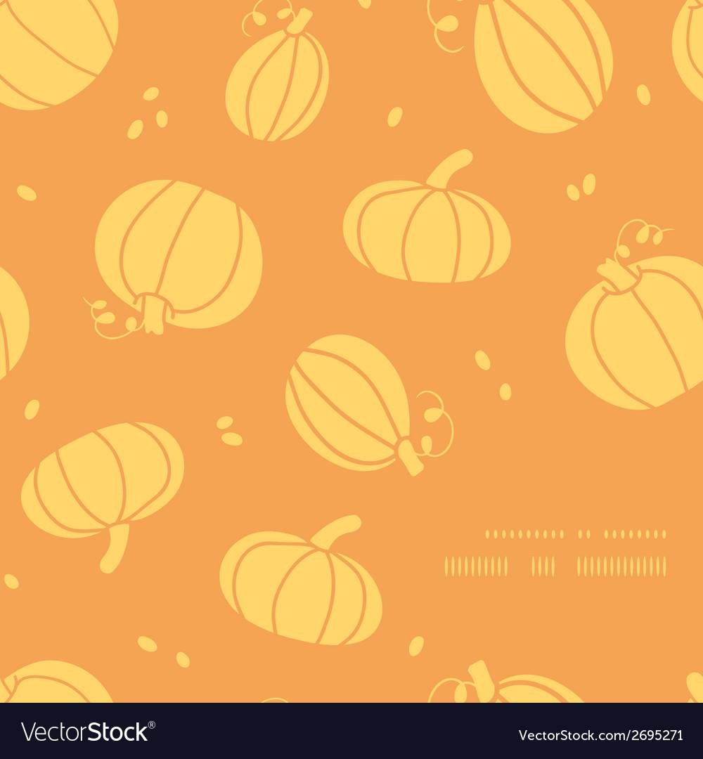 Thanksgiving golden pumpkins frame corner pattern vector | Price: 1 Credit (USD $1)