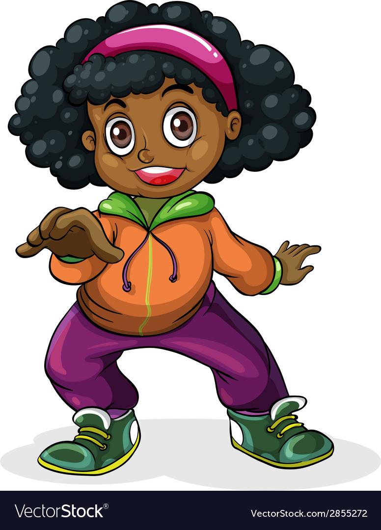 A black hiphop dancer vector | Price: 3 Credit (USD $3)