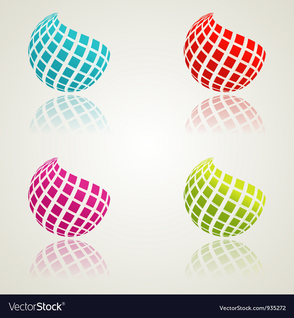 Abstract color icons vector | Price: 1 Credit (USD $1)