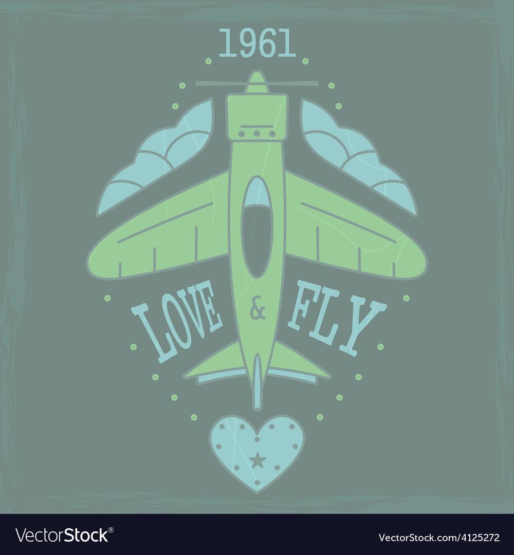 Airplane emblem4vs vector | Price: 1 Credit (USD $1)