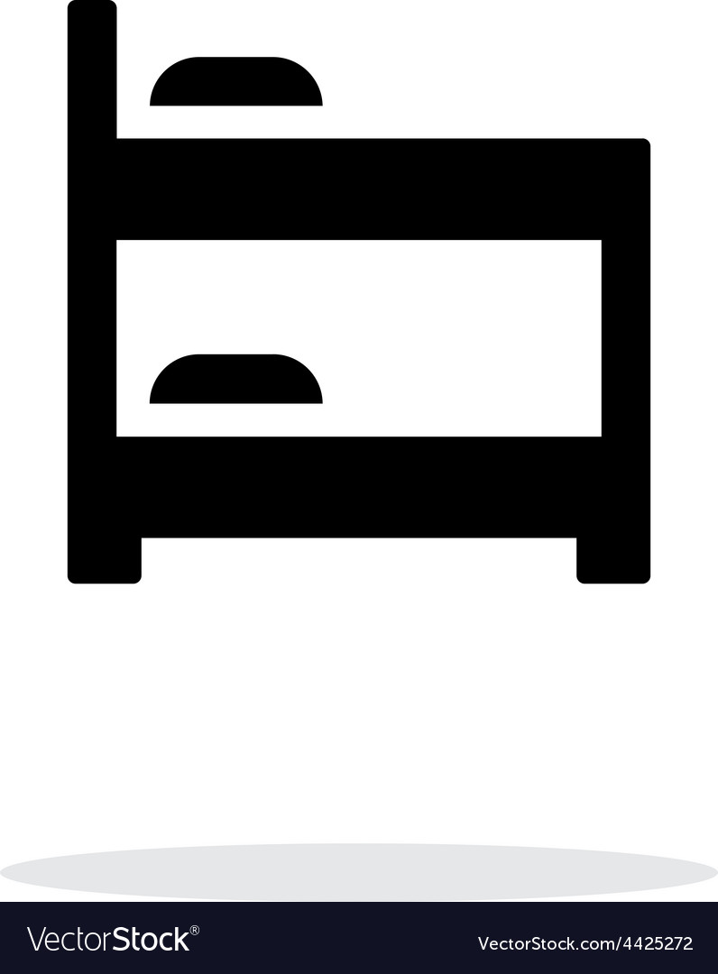 Bunk bed simple icon on white background vector | Price: 1 Credit (USD $1)