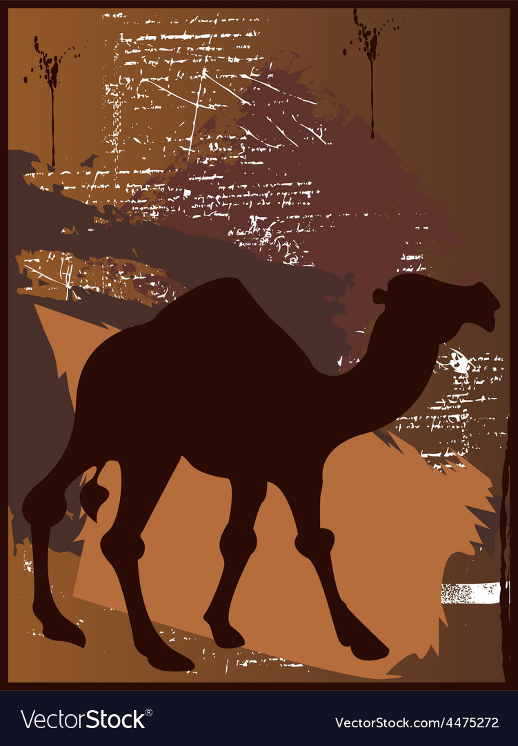 Camel cartoon vector | Price: 1 Credit (USD $1)