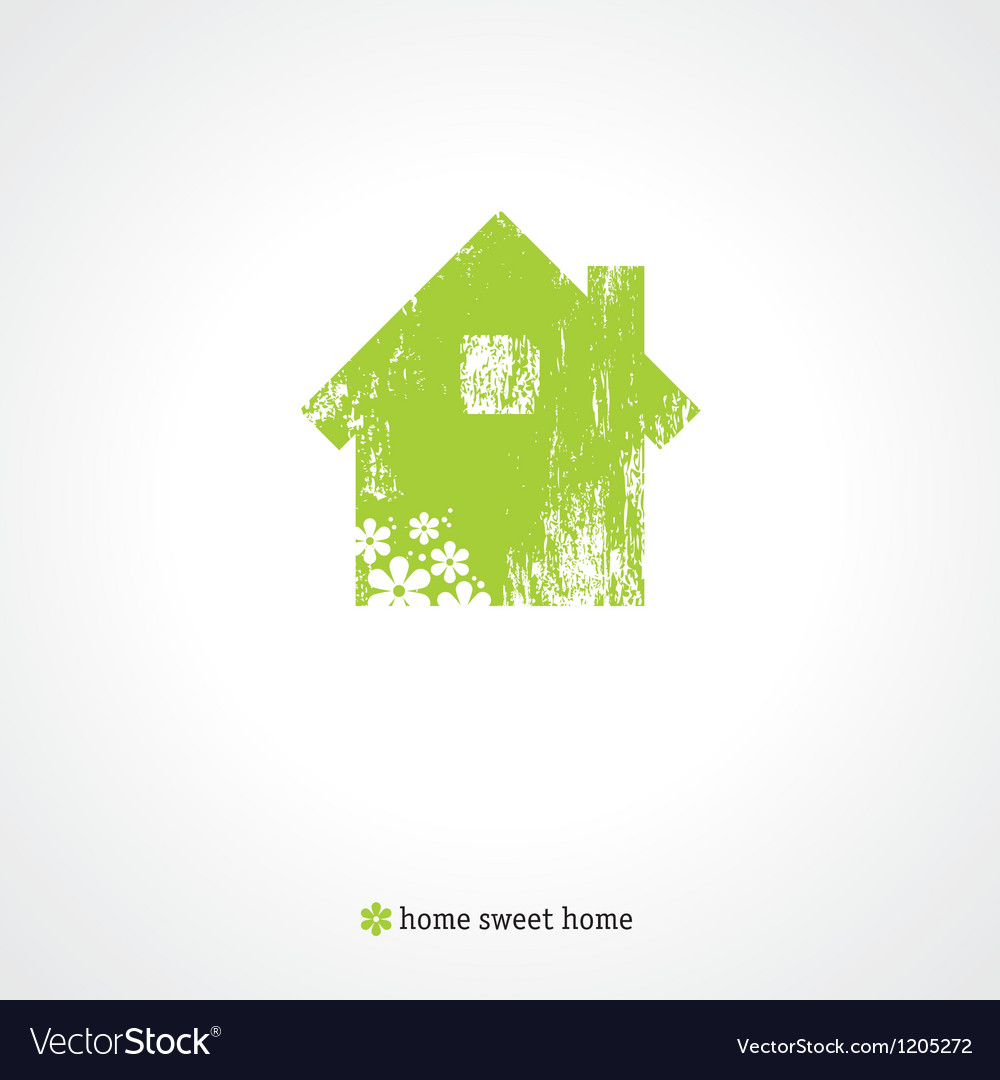 Old green home vector | Price: 1 Credit (USD $1)