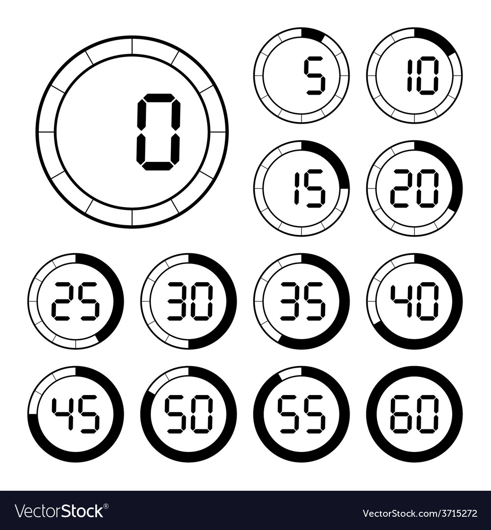 Set of icons stopwatch vector | Price: 1 Credit (USD $1)