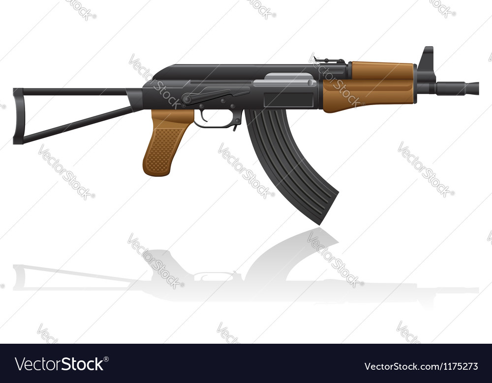 Automatic machine ak 47 02 vector | Price: 1 Credit (USD $1)