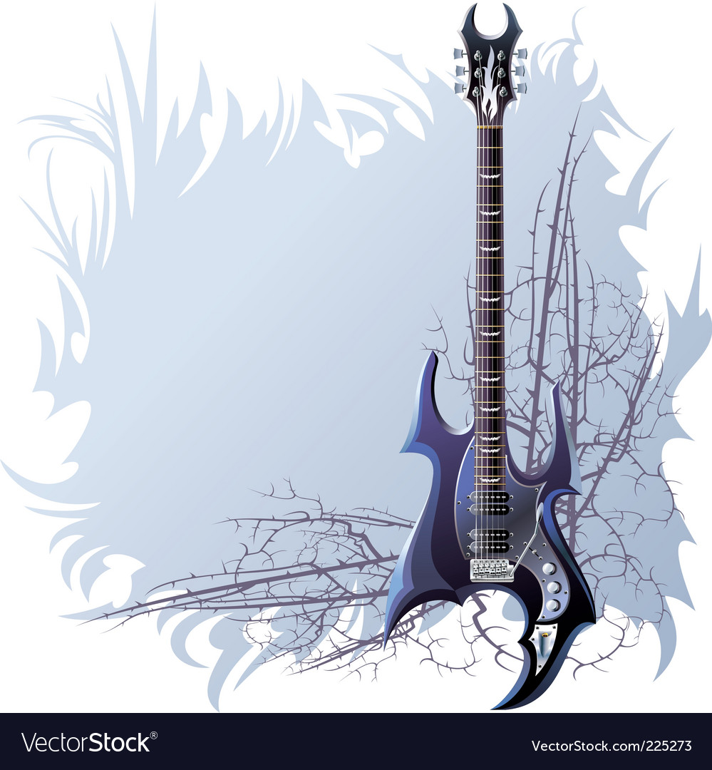 Black guitar vector | Price: 1 Credit (USD $1)