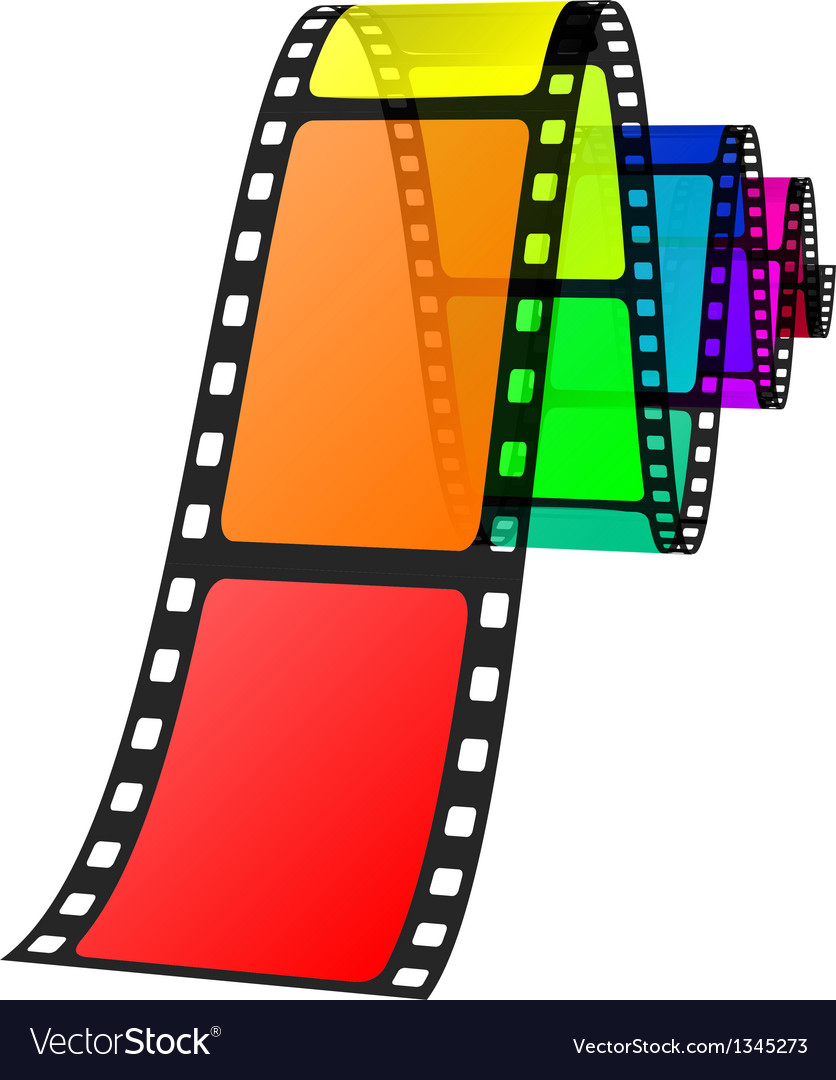 Colorful film vector | Price: 1 Credit (USD $1)