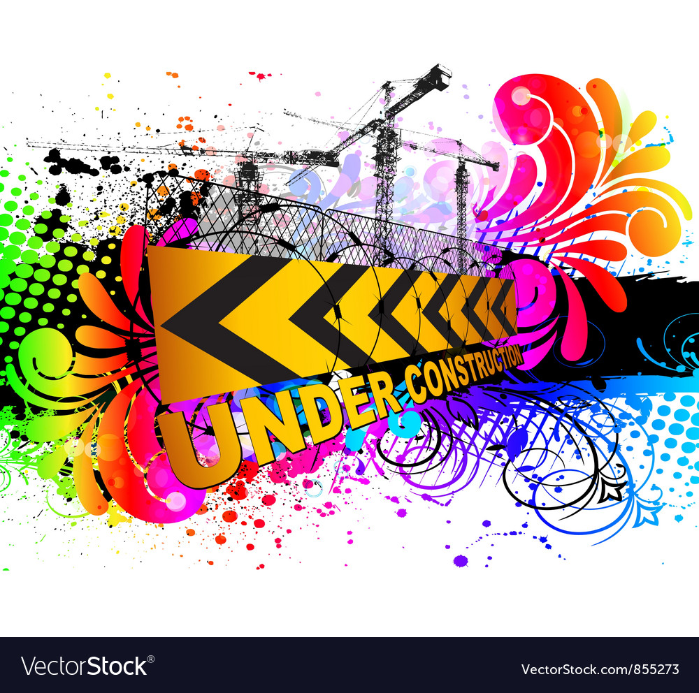 Colorful under construction sign vector | Price: 1 Credit (USD $1)