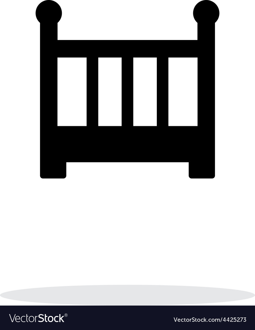 Crib simple icon on white background vector | Price: 1 Credit (USD $1)