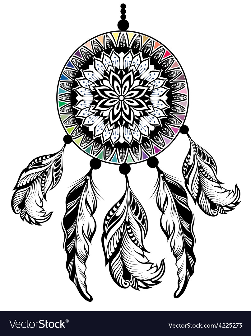 Dream catcher protection american indians vector | Price: 3 Credit (USD $3)