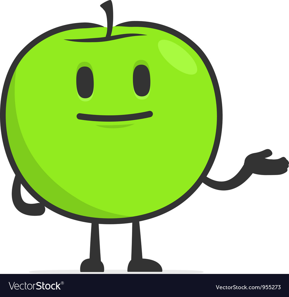 Funny cartoon apple vector | Price: 1 Credit (USD $1)