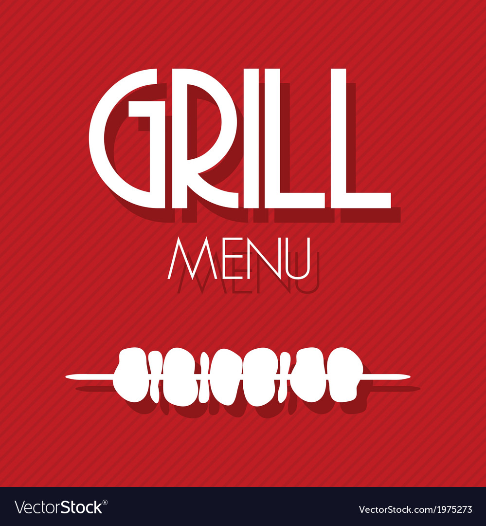 Grill menu1 vector | Price: 1 Credit (USD $1)