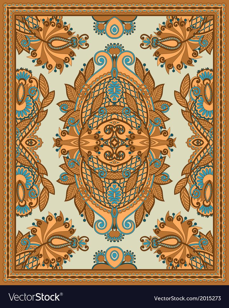 Ornamental seamless carpet design vector | Price: 1 Credit (USD $1)