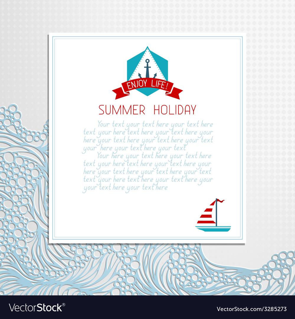 Paper summer design vector | Price: 1 Credit (USD $1)