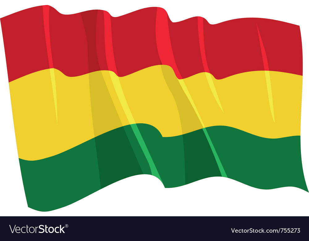 Political waving flag of bolivia vector | Price: 1 Credit (USD $1)