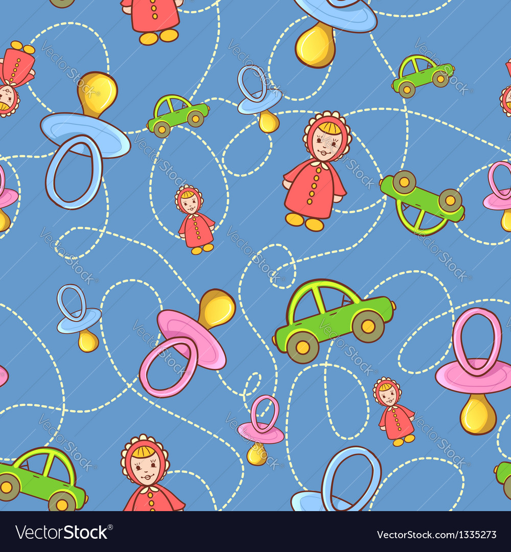 Seamless children background vector | Price: 1 Credit (USD $1)