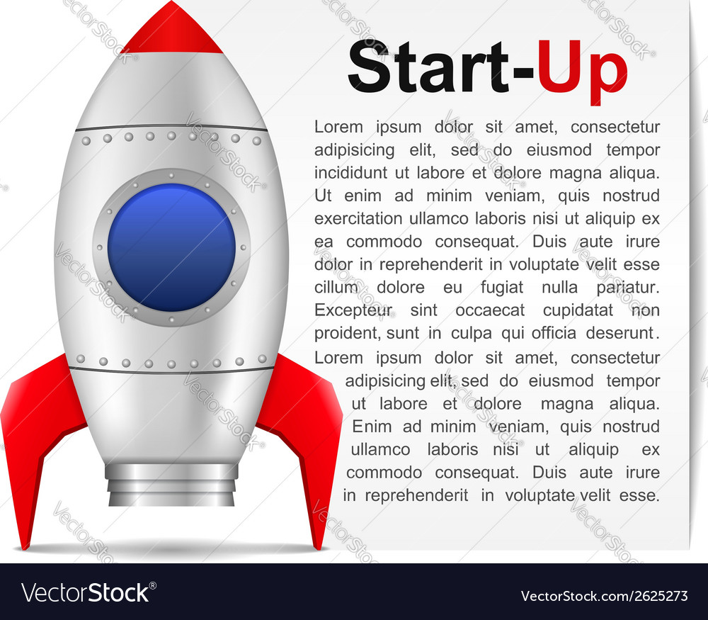 Start-up banner vector | Price: 1 Credit (USD $1)