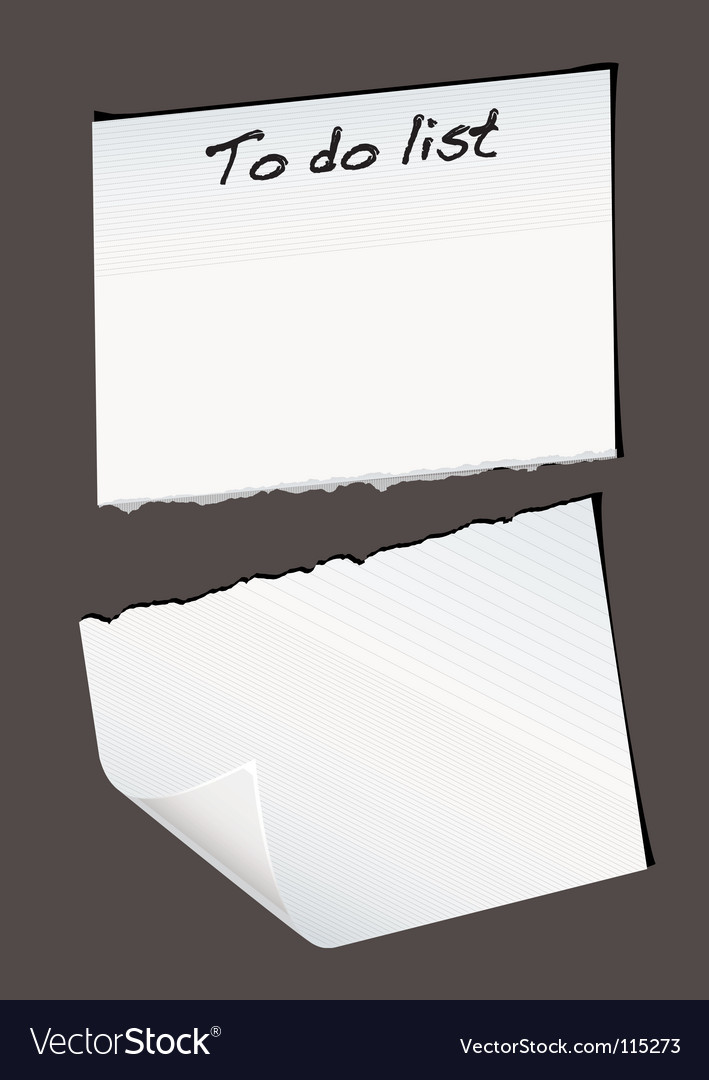 Torn reminder vector | Price: 1 Credit (USD $1)