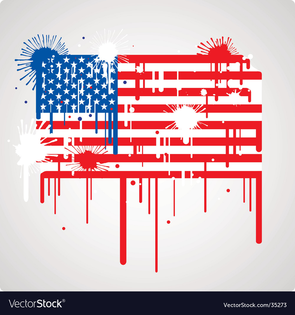 Usa flag grunge vector | Price: 1 Credit (USD $1)
