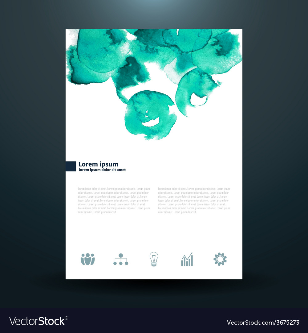 Watercolor business template with circles vector | Price: 1 Credit (USD $1)