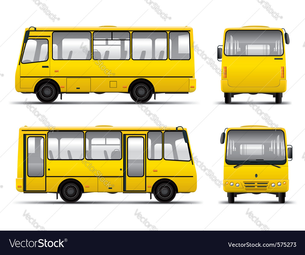 Yellow minibus draft template isolayed over white vector | Price: 3 Credit (USD $3)
